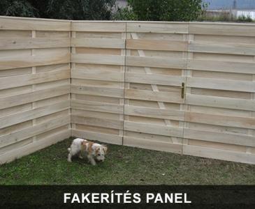 Fakerítés panel